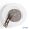 Arti & Mestieri 'Brunch Time / Plate & Fork Knife' White Wall Clock 34cm