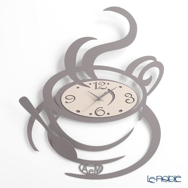 アルティ・エ・メスティエリ 壁掛け時計 コーヒーカップ グレー 45×55.5cm 鉄製
