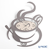 Arti & Mestieri 'Al Bar / Coffee Cup' Slate Grey Wall Clock 45x55cm