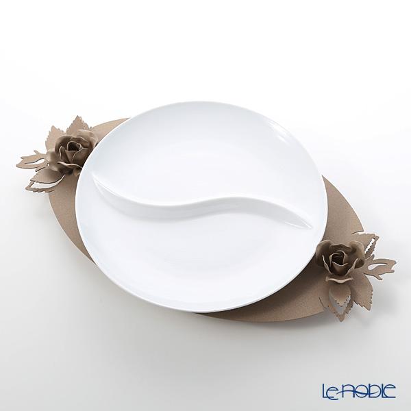 アルティ・エ・メスティエリ ローズブーケ プレートスタンド プレート付 ベージュ スタンド:鉄製