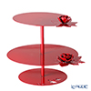 Arti & Mestieri 'Rose Bouquet' Red Cake Stand H28.5cm