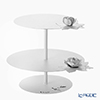 Arti-et-mastery rose bouquet Iron cake stand white height 28.5 cm