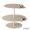 Arti-et-mastery rose bouquet Iron cake stand beige height 28.5 cm