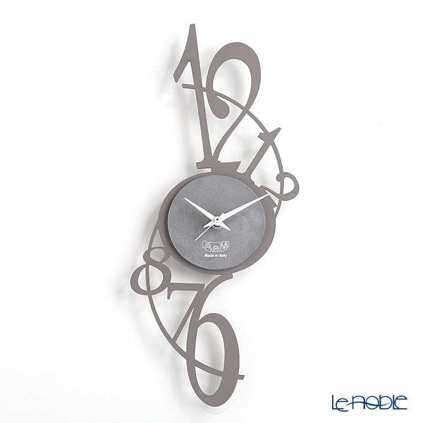 アルティ・エ・メスティエリ 壁掛け時計 アルデシア グレー 20×45cm 鉄製