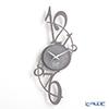Arti e Mestieri clock Ardeshir gray 20 x 45 cm steel