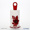 Arti & Mestieri 'Rose Bouquet' Red Kitchen Roll Holder H33cm