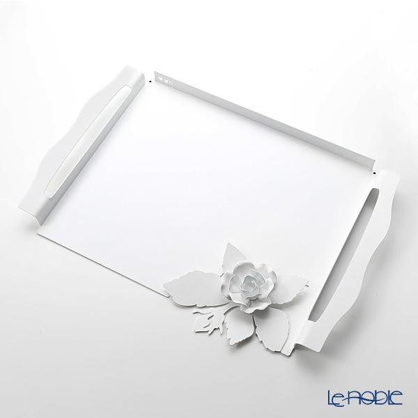 アルティ・エ・メスティエリ ローズブーケ トレイ ホワイト 46.5×32.5cm 鉄製