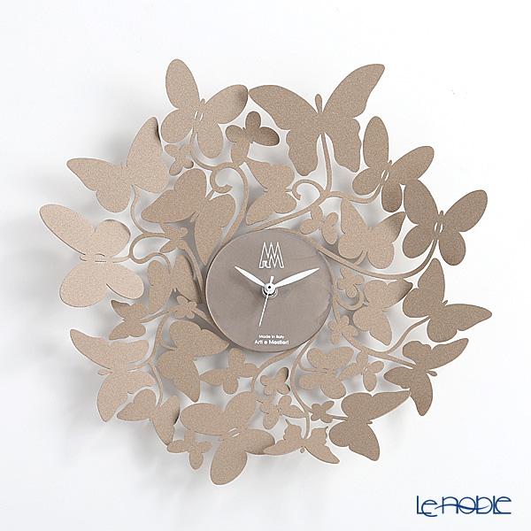 アルティ・エ・メスティエリ 壁掛け時計 バタフライ ベージュ 直径40cm 鉄製