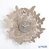 アルティ・エ・メスティエリ 壁掛け時計バタフライ ベージュ 直径40cm 鉄製