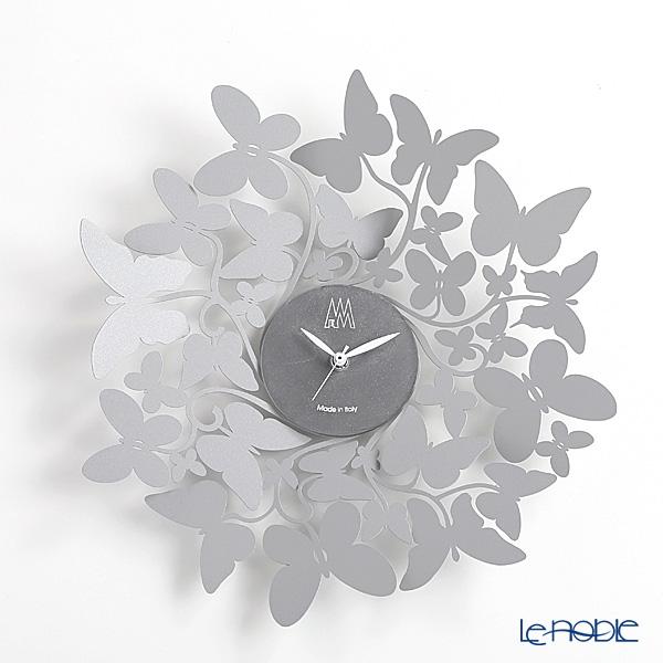 アルティ・エ・メスティエリ 壁掛け時計 バタフライ グレー 直径40cm 鉄製