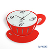 Arti & Mestieri 'Break / Coffee Cup' Red Wall Clock 41.5x36.5cm