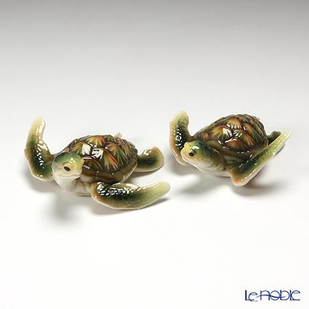 フランツ・コレクション ウミガメ フィギュリン 2個セット FZ01858
