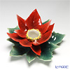 Franz Collection 'Holiday Classic (Christmas Poinsettia Flower)' Red FZ01989 Sculptured Candle Holder 14cm