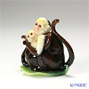 Franz Collection Jungle Fun monkey sculptured porcelain figurine mother & daughter FZ02013BE