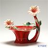 Franz collection Island beauty Red sculptured porcelain tealite holder FZ01624