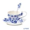 Franz Collection Floral Bouquet Collection sculptured porcelain cup/saucer set FZ01834