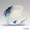 Franz Collection Dolphin Splash design sculptured porcelain dessert plate FZ02255E