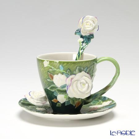 フランツ・コレクション ゴッホ 白バラ カップ&ソーサー スプーン付 FZ02461