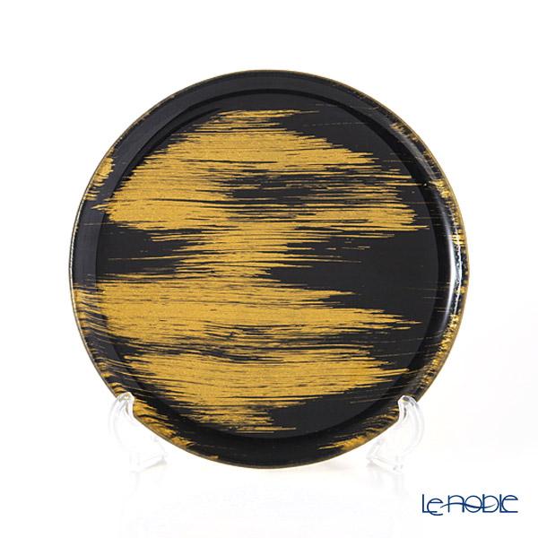 モダンボヘミア ブラック×ゴールド フラットプレート/トレイ 21cm