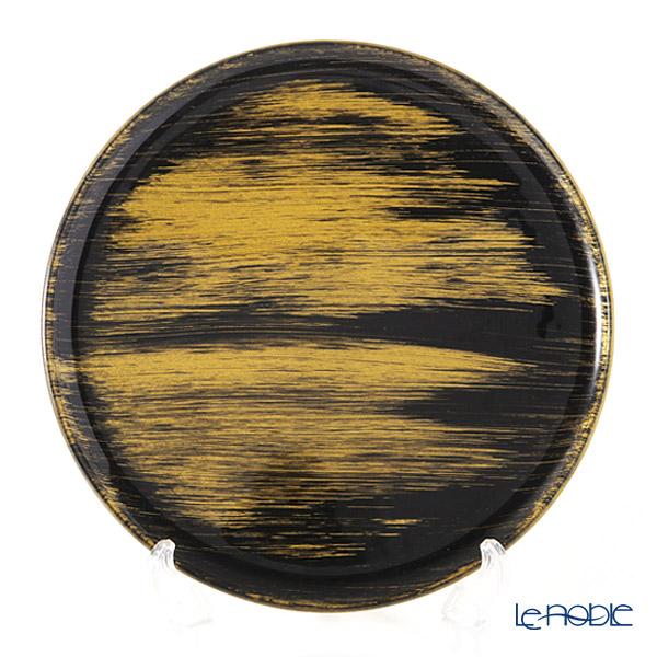 モダンボヘミア ブラック×ゴールド フラットプレート/トレイ 29cm