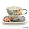 Franz collection 'Cattleya (Flower)' FZ02866 Sculptured Cup & Saucer