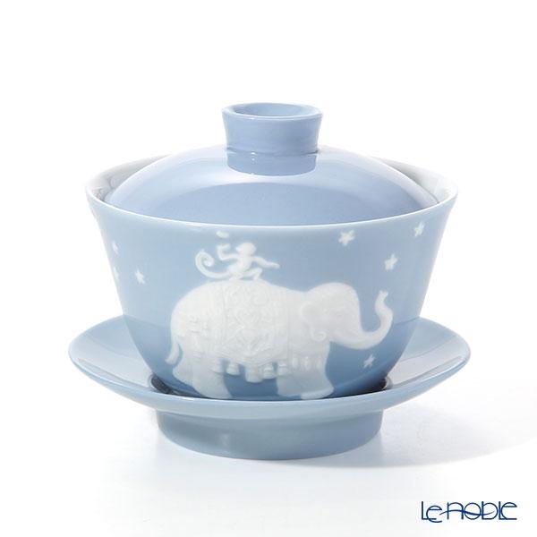 フランツ・コレクション JB00918 オリエンタルカップ ゾウ/エレファント(ブルーグレー)