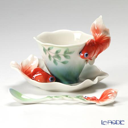 Service à thé poisson rouge