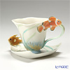 Franz Collection By The Sea design sculptured porcelain sculptured porcelain cup/saucer set FZ01137