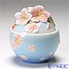 Franz Collection 'Cherry Blossom (Flower)' Pink & Sky Blue FZ01419E Sculptured Sugar Pot