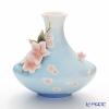 Franz Collection 'Cherry Blossom (Flower)' Pink & Sky Blue FZ01519E Sculptured Vase H25.5cm
