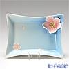 Franz Collection 'Cherry Blossom (Flower)' Pink & Sky Blue FZ01585BE Sculptured Plate 13.5cm