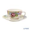 Gien 'Millefleurs' 16432PTH01 Tea Cup & Saucer 190ml