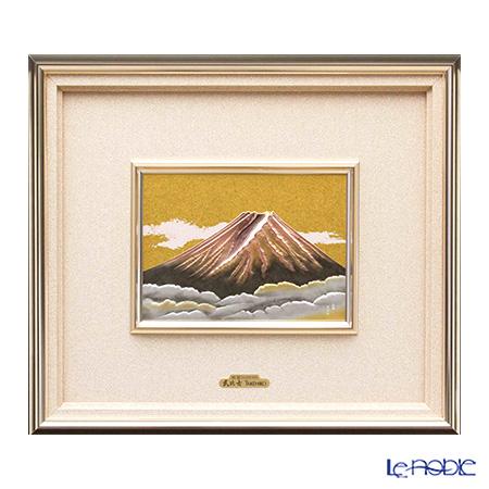 純銀額(Silver999) 7号 赤富士 37×42cm 金銀工芸家・伝統工芸士 武比古作