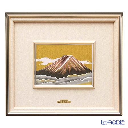 純銀額(Silver999) 10号 赤富士 44×53cm 金銀工芸家・伝統工芸士 武比古作