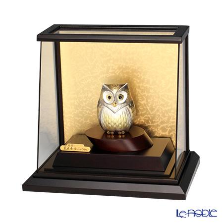 純銀置物(Silver999) 4号 スロープケース フクロウ 金銀工芸家・伝統工芸士 武比古作