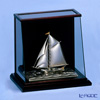 Silver figurine (Silver985) number 4 ramp case One yacht mast gold and silver crafts, traditional craftsman Takehiko old film