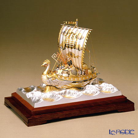 2nd silver ornaments (Silver985) Treasure ship (Phoenix) gold and silver crafts, traditional craftsman Takehiko old film