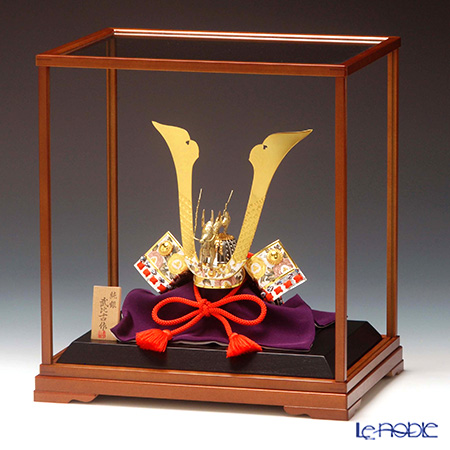 純銀置物(Silver999) 2号 兜 龍付 金銀工芸家・伝統工芸士 武比古作