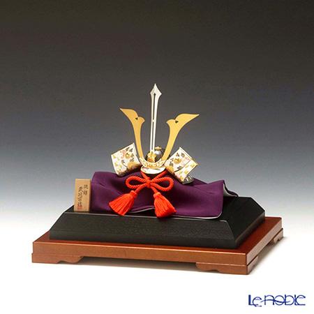 純銀置物(Silver999) 4号 兜 剣付 金銀工芸家・伝統工芸士 武比古作