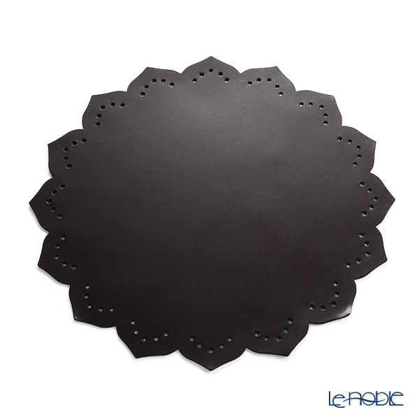 Delia (Deria) placemat flower PLM60SC4 brown / leather Board (recycled leather)
