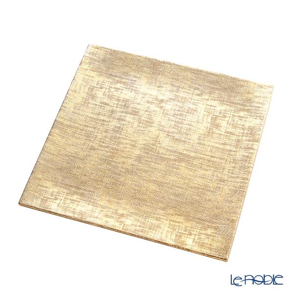 Delia (Deria) charger plate square SPL1814Z sparkling gold