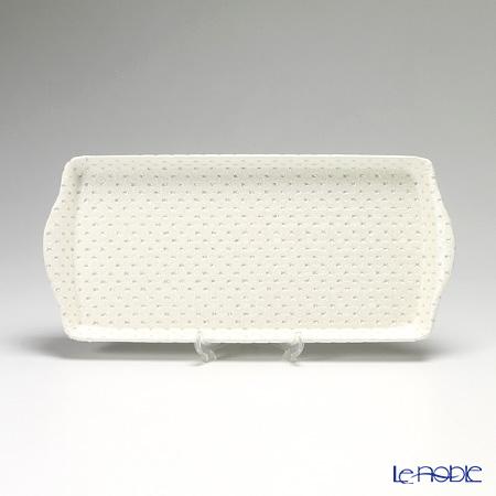 デリア(Deria) トレイ(お盆)スパークリングホワイト 37×17cm TPS66063