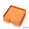 Deria 'Orange' BRD1483 Square Coaster 9cm (set of 6 with holder)