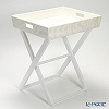 Studio N (Le-noble original) tray table Zebra white 53 x 44 x 61 cm TCH59077