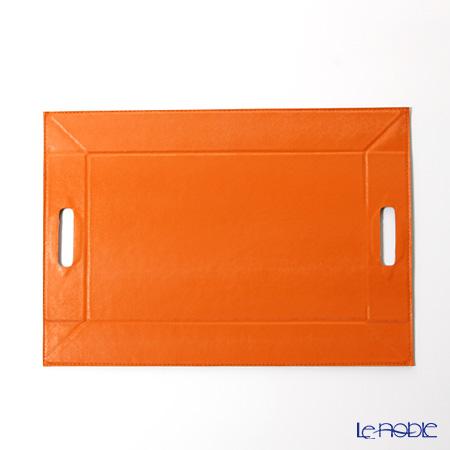 デリア(Deria) プレースマットトレイ リバーシブルオレンジ×ブラウン 34×48cm PLM9083/85