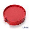 Delia (Deria) round coasters reversible set of 6 Red / Brown 9 x 9 cm BRD1800 holder