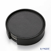 Delia (Deria) round coasters reversible set of 6 Black / beige 9 x 9 cm BRD1800 holder