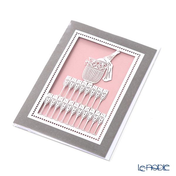 メッセージカード QUIRE社 クワイヤー 11.4×16.3cm(定形サイズ) QR2826(多目的) シャンパン レーザーカット