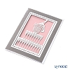 Quire 'Champagne Glass & Bottle' Grey Pink QR2826 Note Card with Envelope 12x17cm