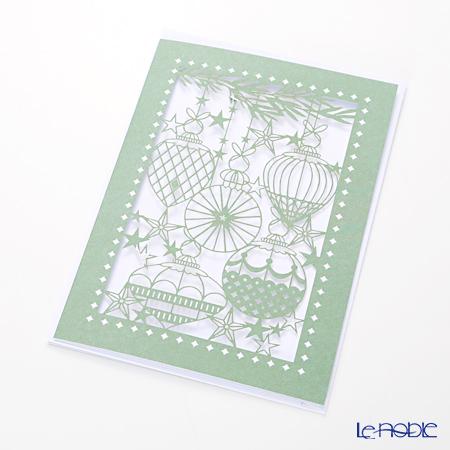 メッセージカード QUIRE社 クワイヤー 11.4×16.3cm(定形サイズ) XQR2841(Christmas)Xオーナメント レーザーカット